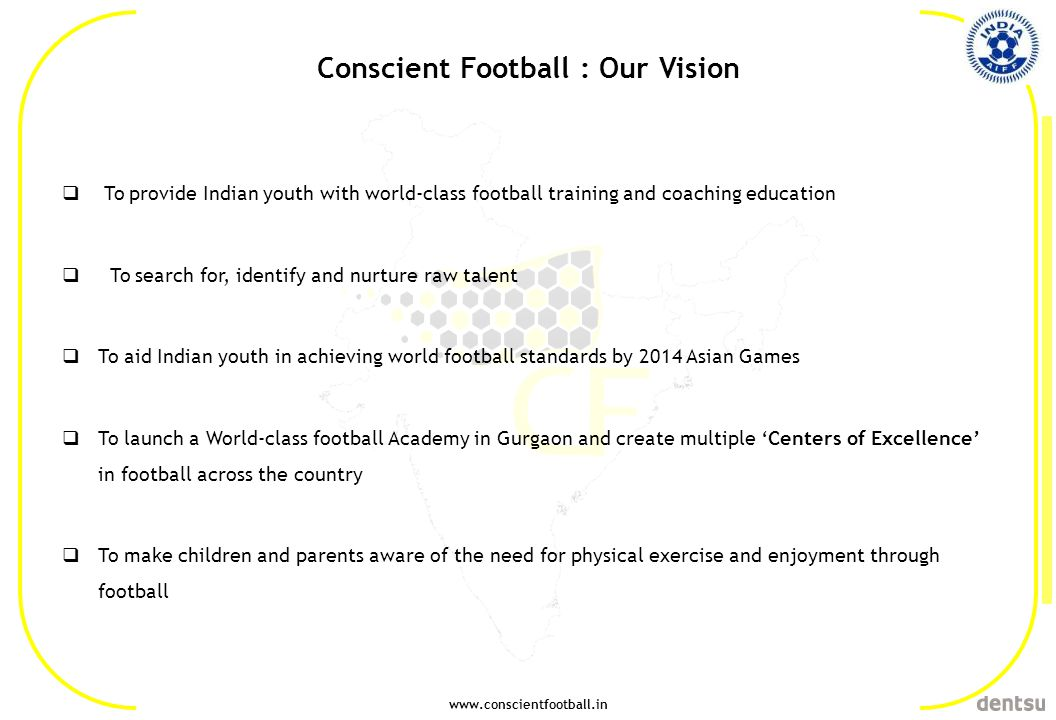 Conscient Football : Our Vision