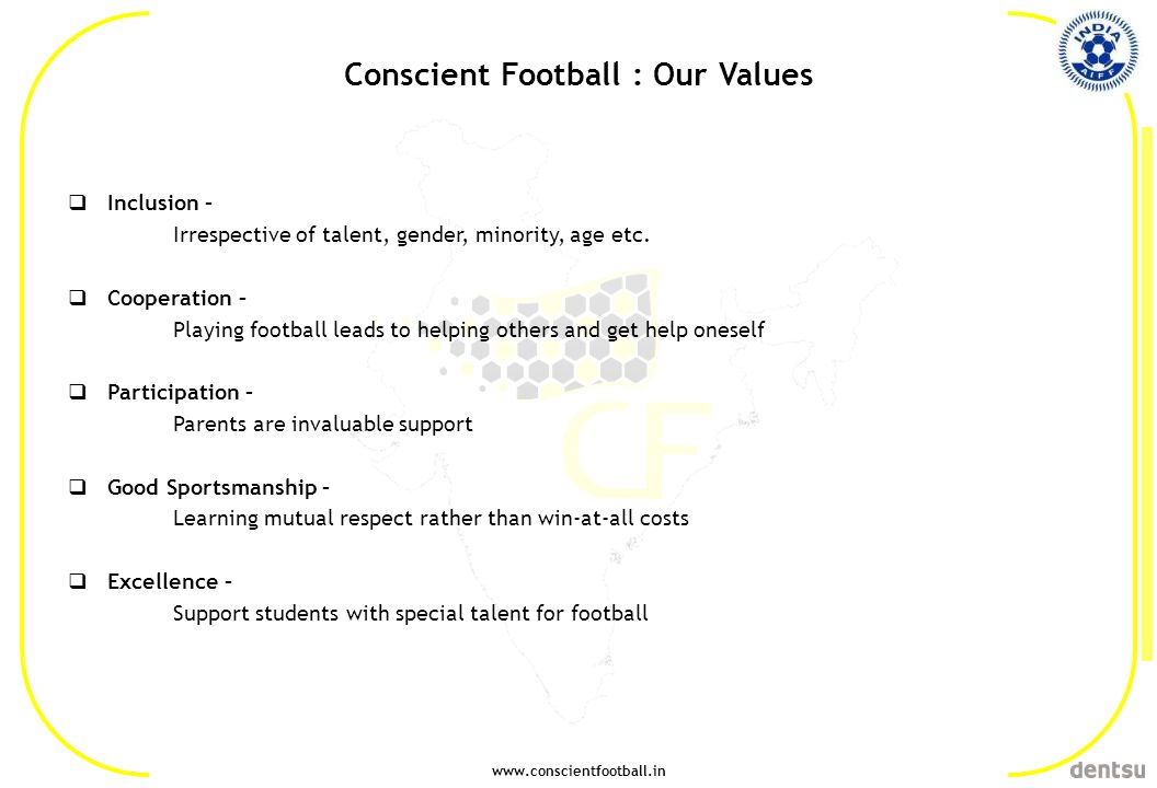 Conscient Football : Our Values
