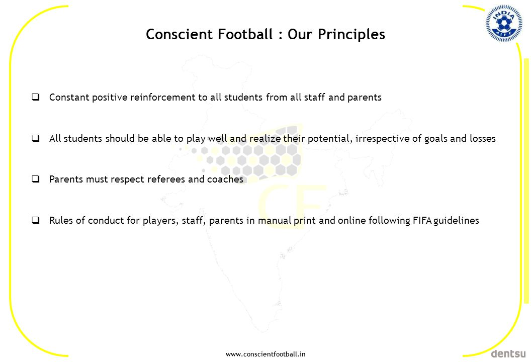 Conscient Football : Our Principles