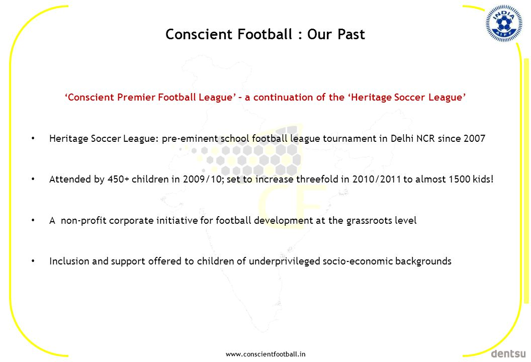 Conscient Football : Our Past