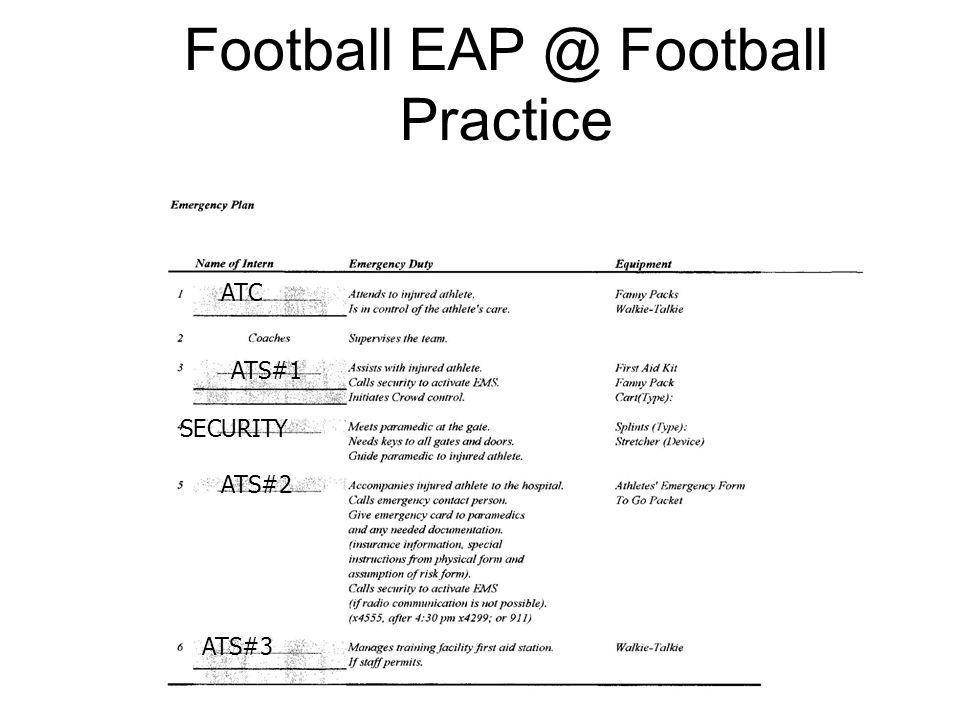 Football EAP @ Football Practice