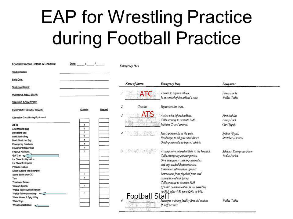 EAP for Wrestling Practice during Football Practice