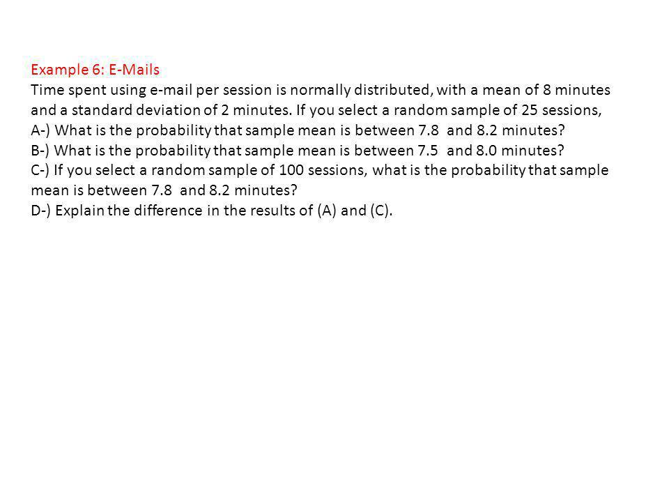 Example 6: E-Mails