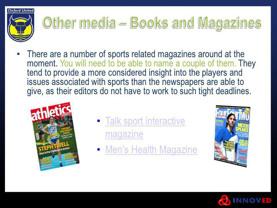 Talk sport interactive magazine Men's Health Magazine
