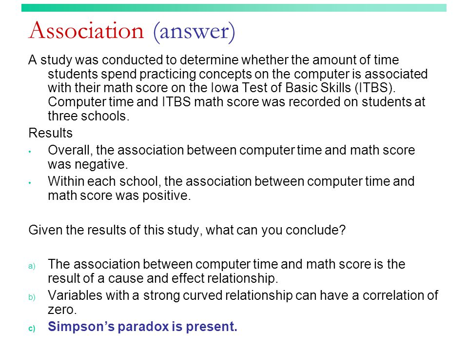 Association (answer)