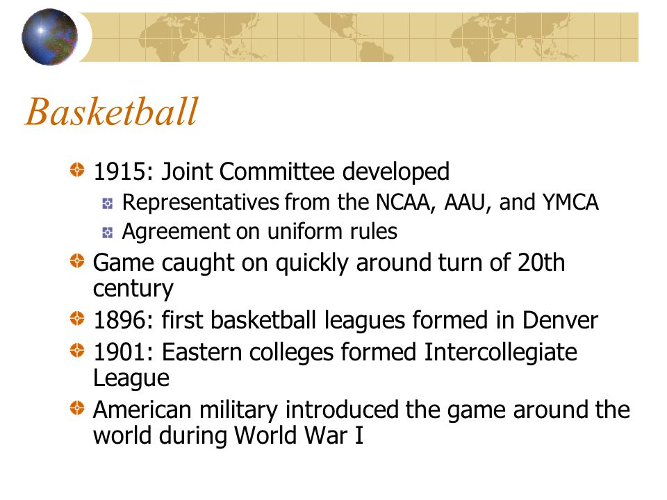 Basketball 1915: Joint Committee developed