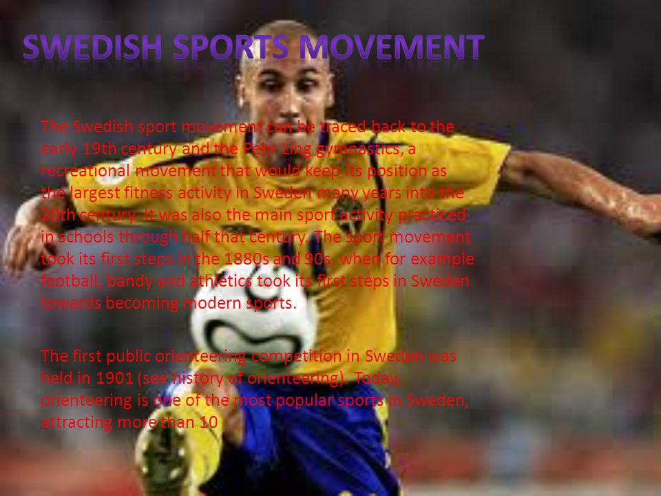 SWEDISH SPORTS MOVEMENT