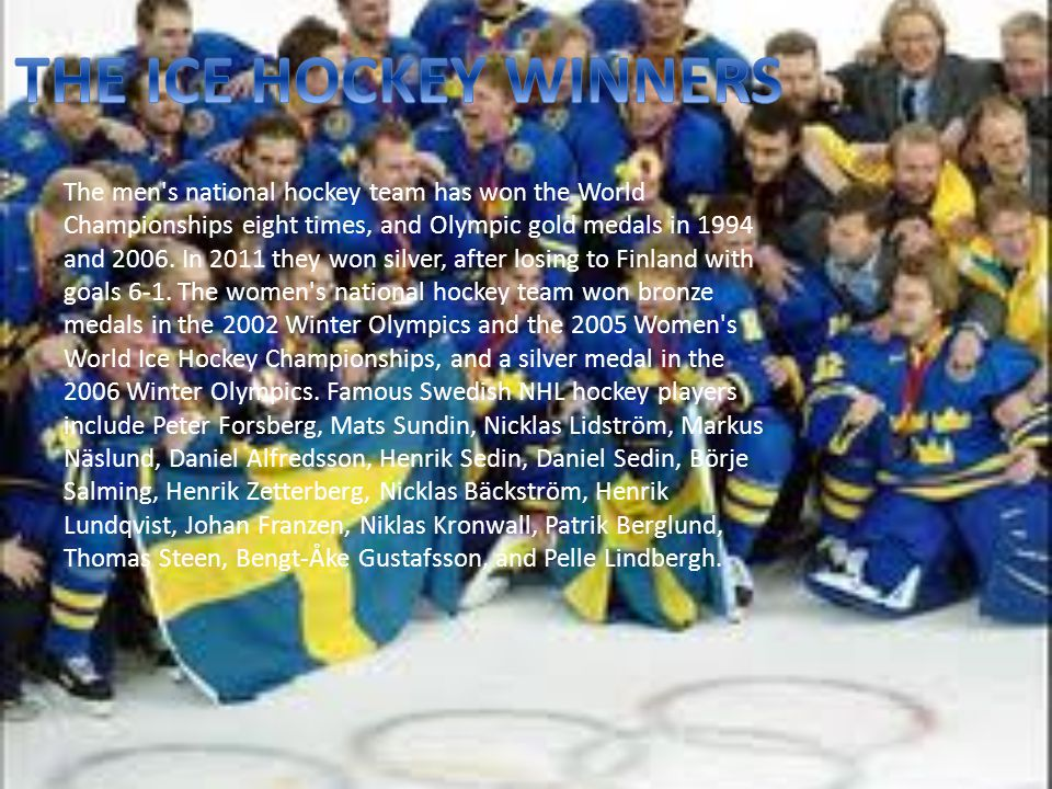 THE ICE HOCKEY WINNERS
