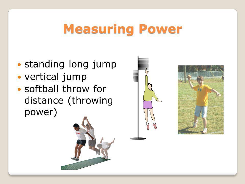 Measuring Power standing long jump vertical jump