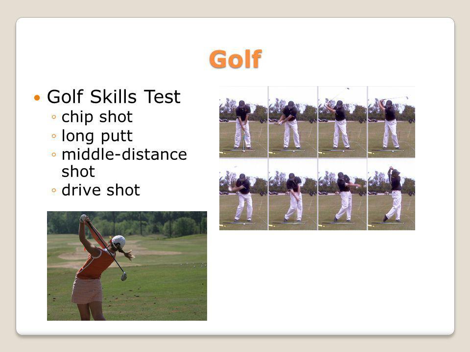 Golf Golf Skills Test chip shot long putt middle-distance shot