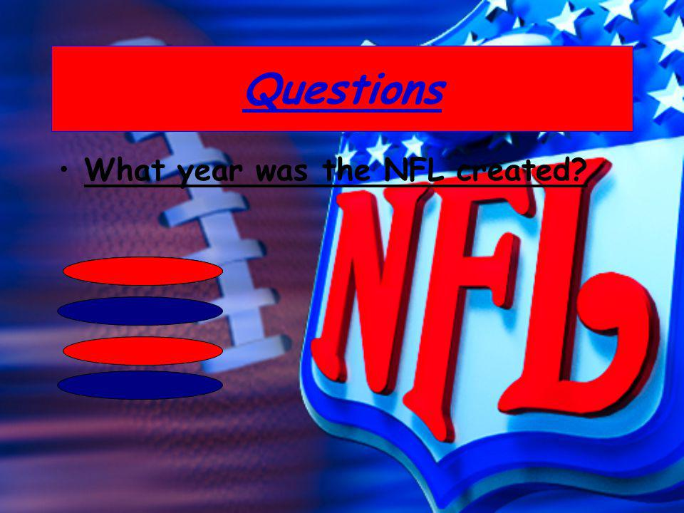Questions What year was the NFL created