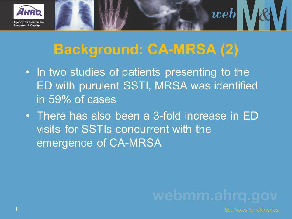 Background: CA-MRSA (2)