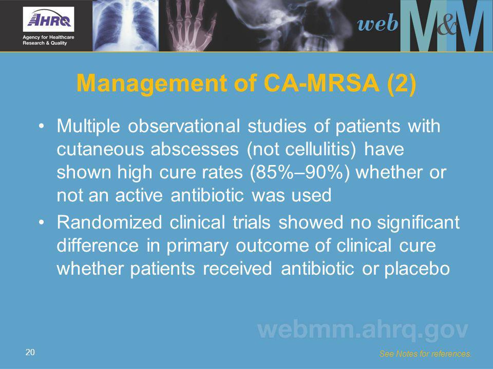 Management of CA-MRSA (2)