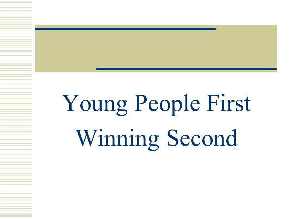 Young People First Winning Second