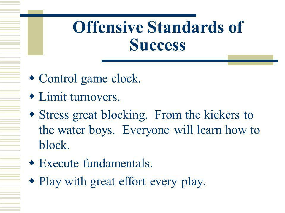 Offensive Standards of Success