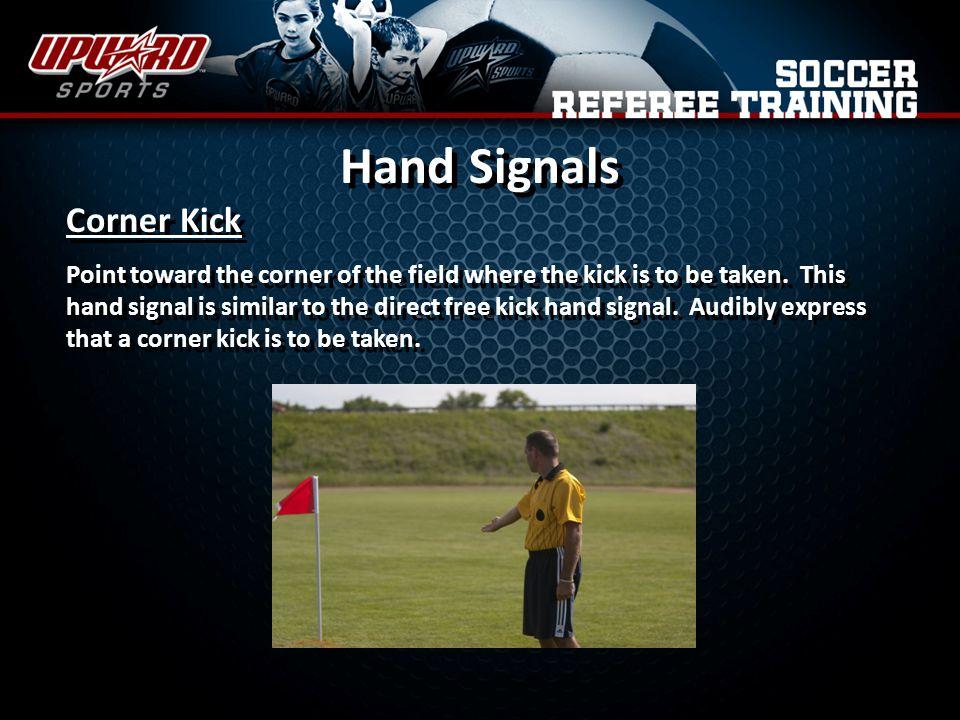 Hand Signals Corner Kick