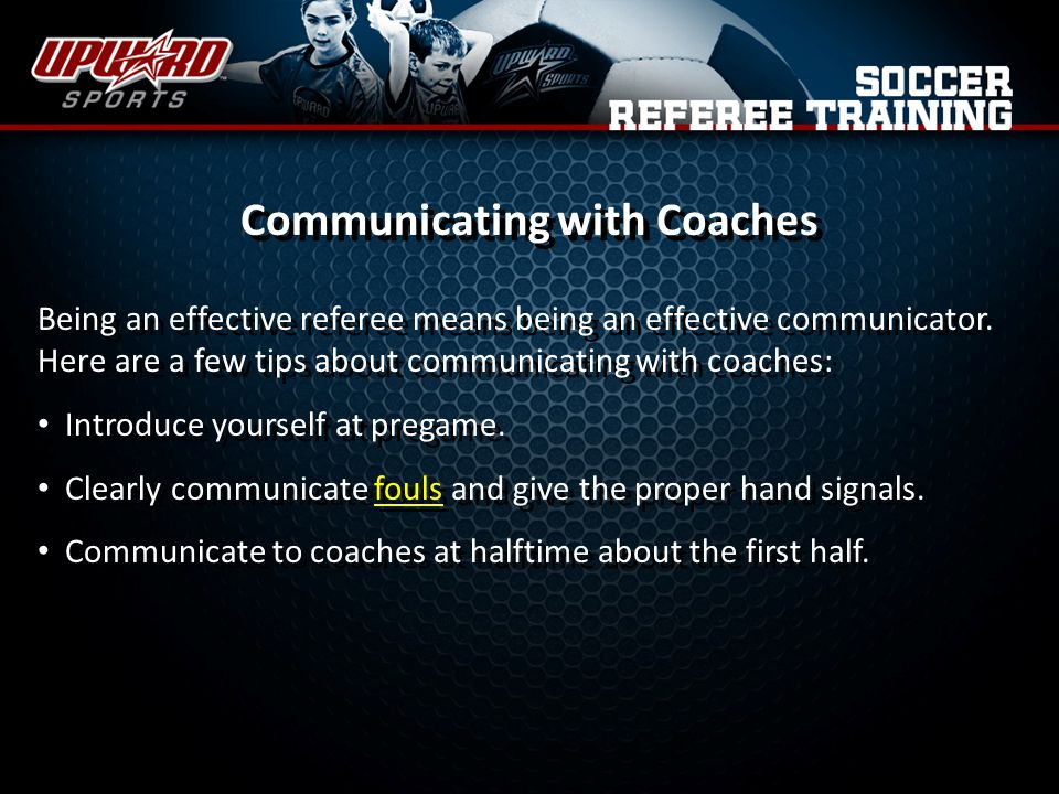 Communicating with Coaches