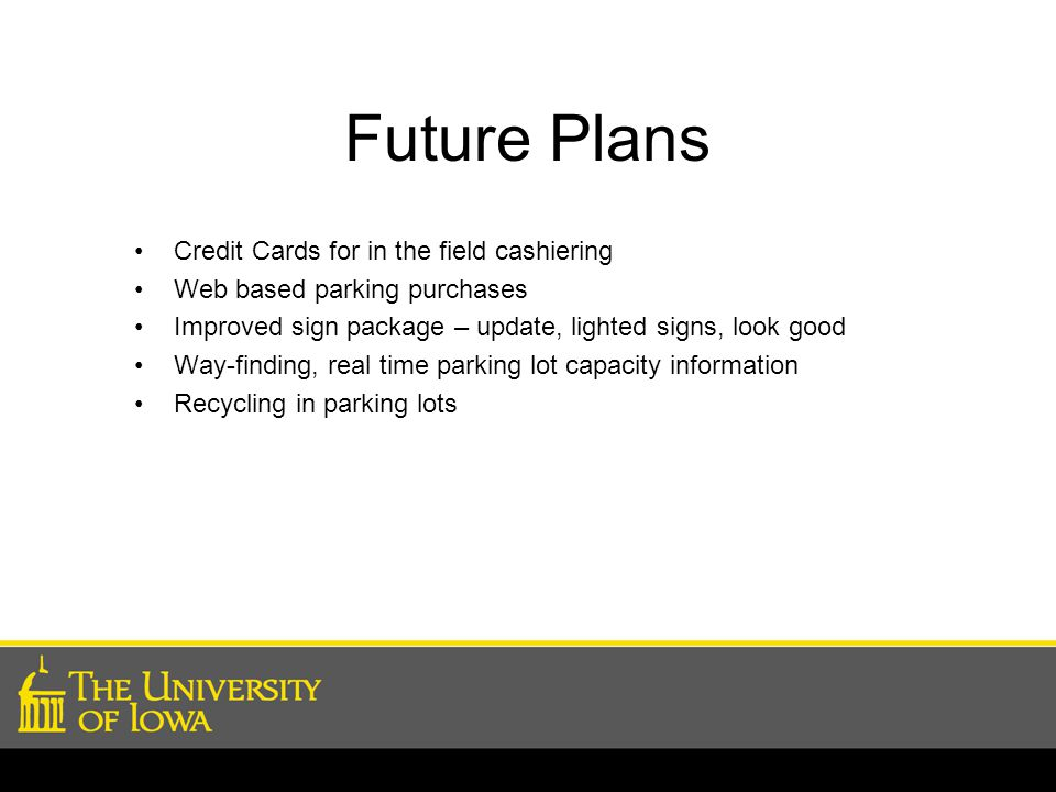 Future Plans Credit Cards for in the field cashiering