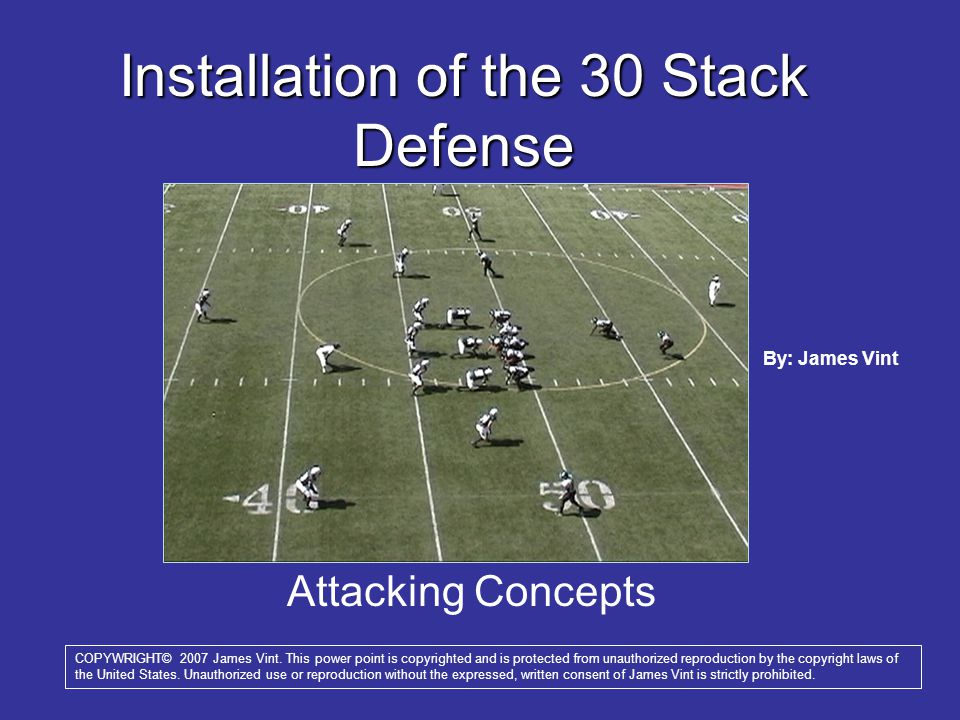 Installation of the 30 Stack Defense