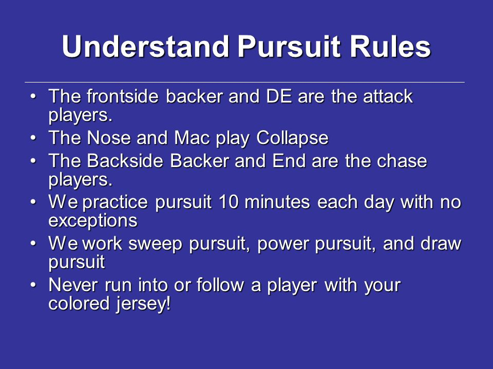 Understand Pursuit Rules
