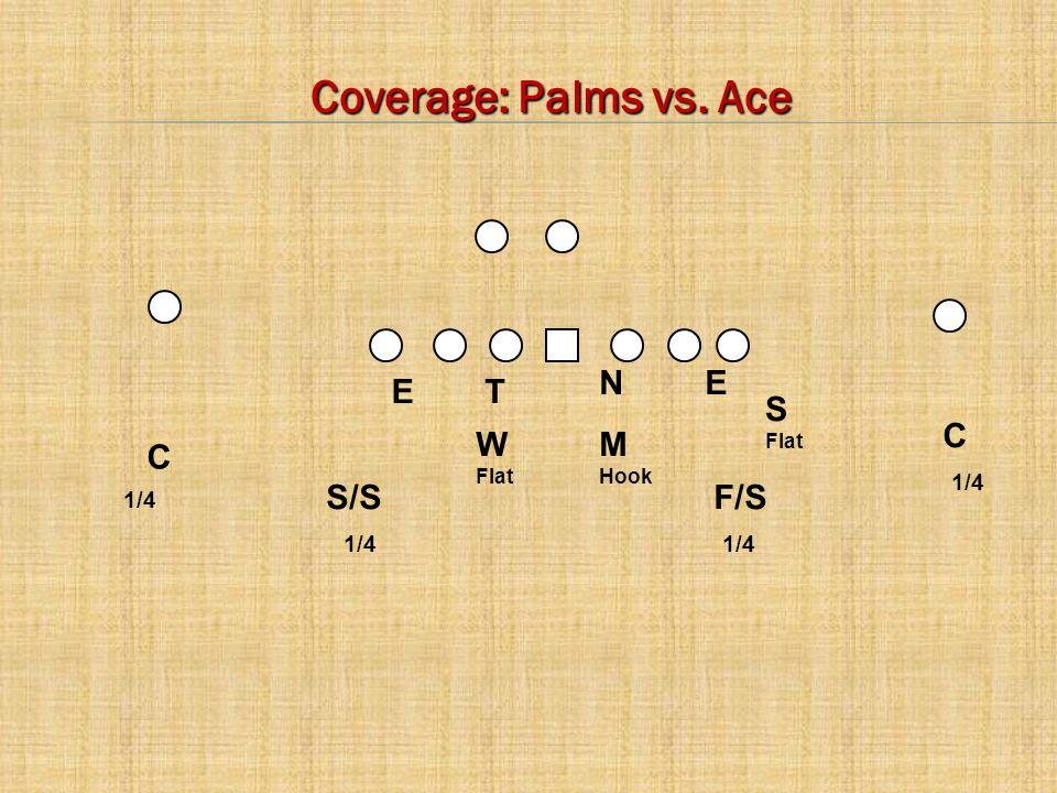 Coverage: Palms vs. Ace N E E T S C W M C S/S F/S 1/4 1/4 1/4 1/4 Flat