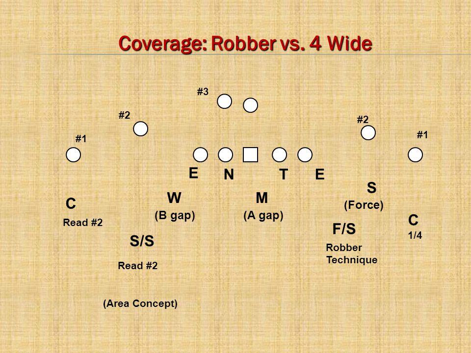 Coverage: Robber vs. 4 Wide