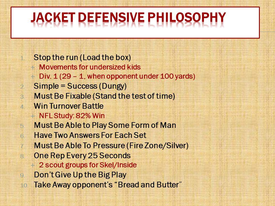Jacket Defensive Philosophy