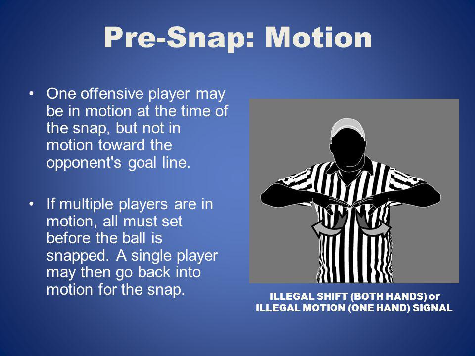 ILLEGAL SHIFT (BOTH HANDS) or ILLEGAL MOTION (ONE HAND) SIGNAL