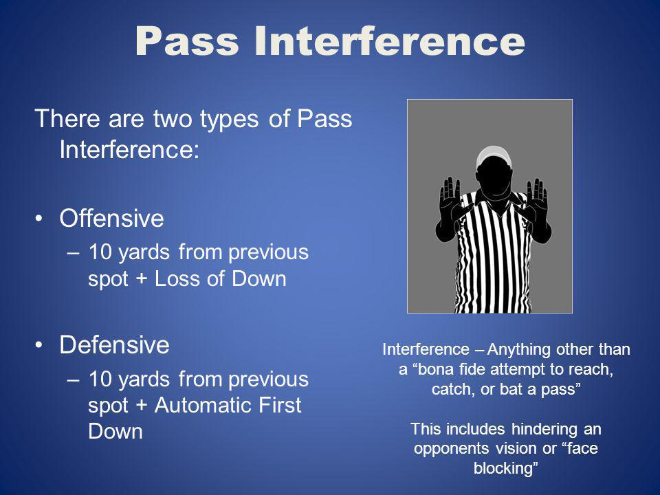 This includes hindering an opponents vision or face blocking