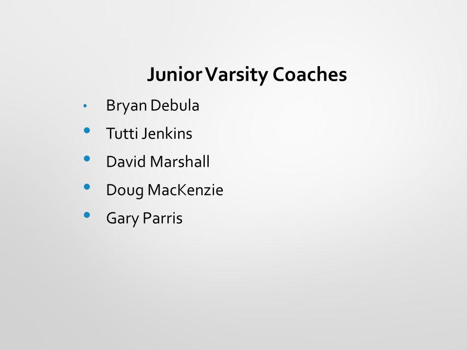Junior Varsity Coaches