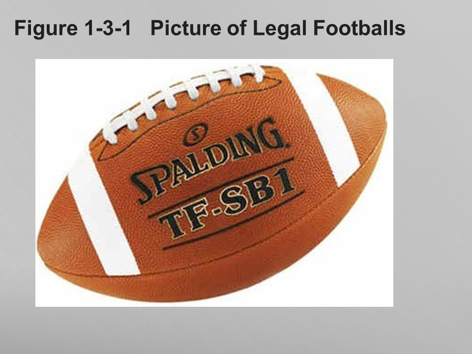 Figure 1-3-1 Picture of Legal Footballs
