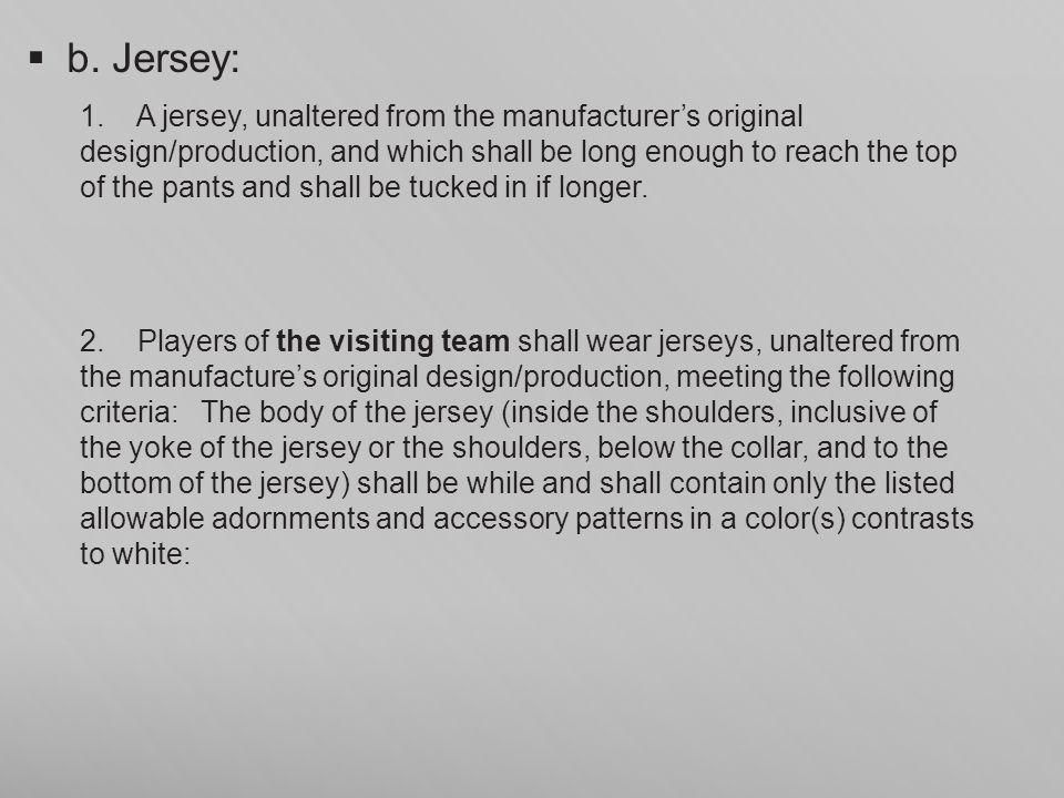 b. Jersey: