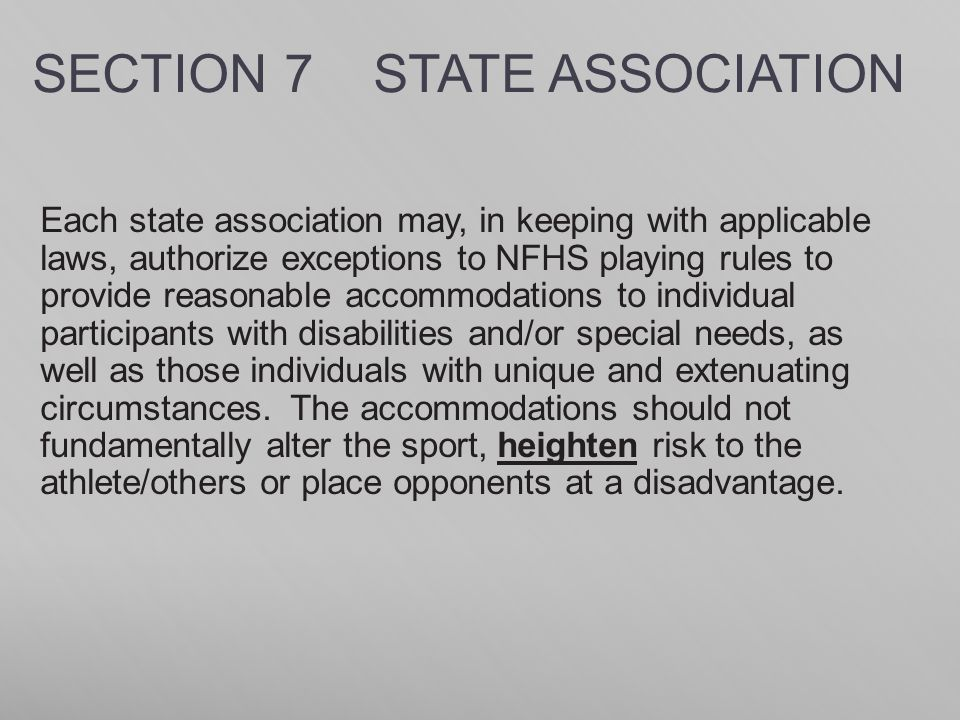 SECTION 7 STATE ASSOCIATION