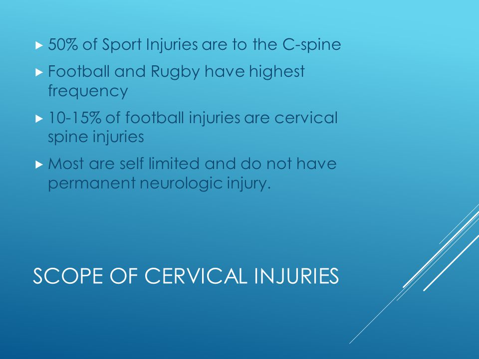 Scope of Cervical Injuries