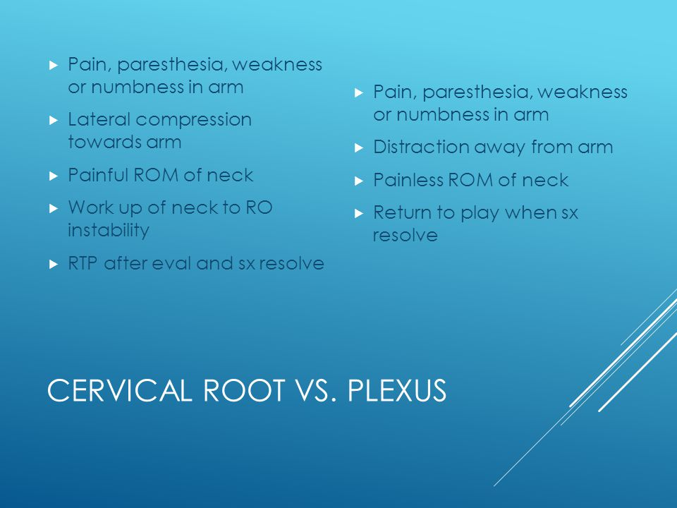 Cervical Root vs. Plexus