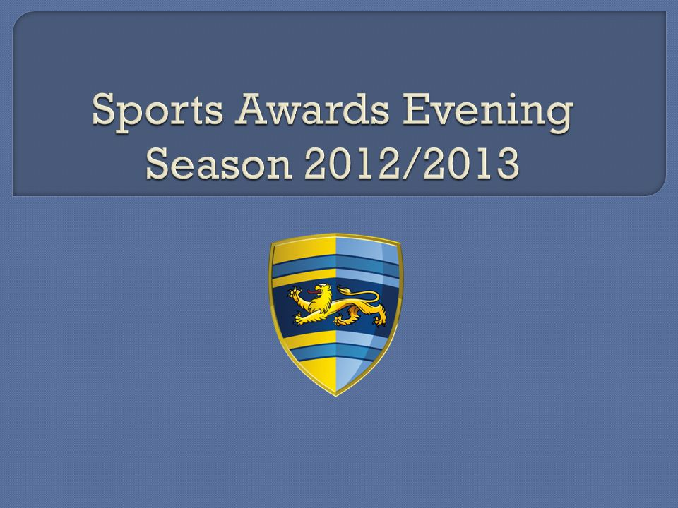 Sports Awards Evening Season 2012/2013