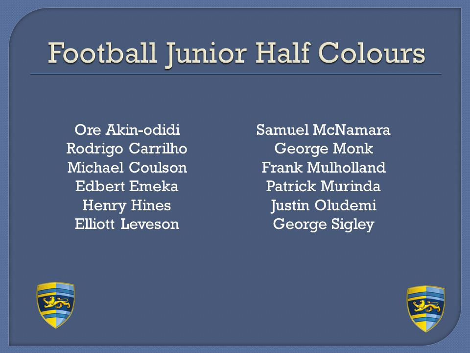 Football Junior Half Colours