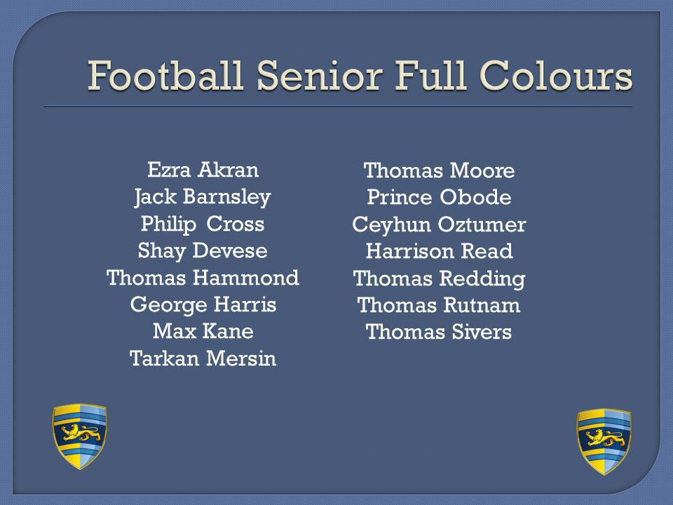 Football Senior Full Colours