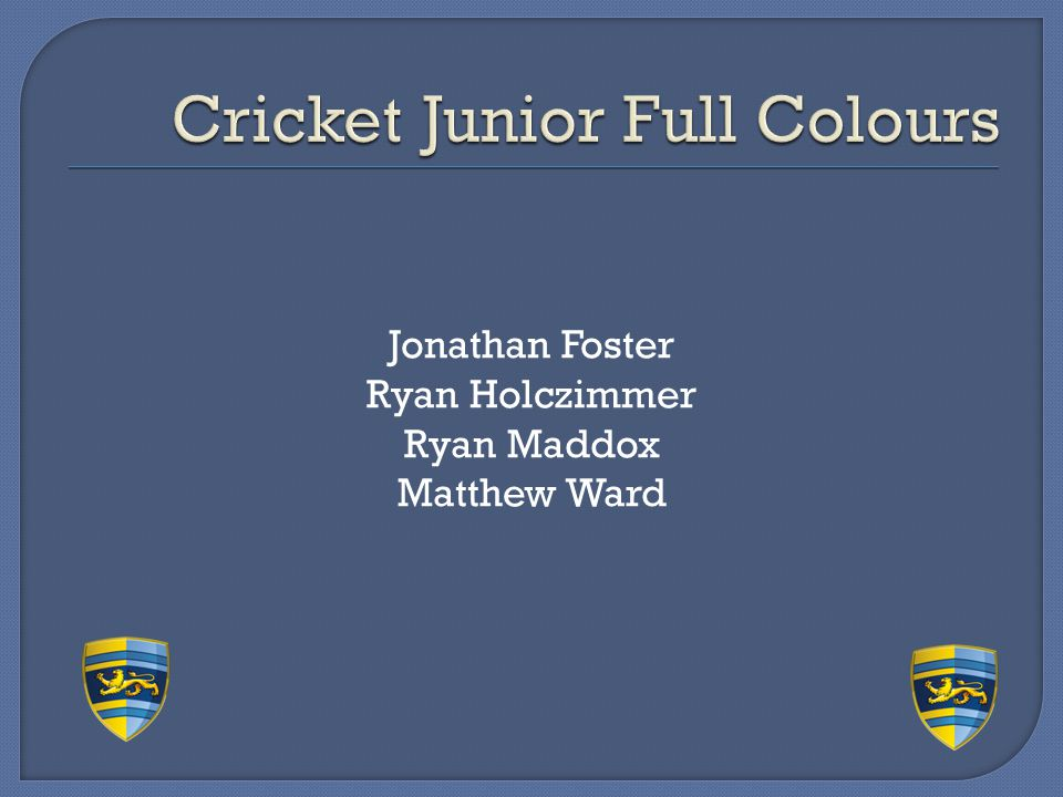 Cricket Junior Full Colours