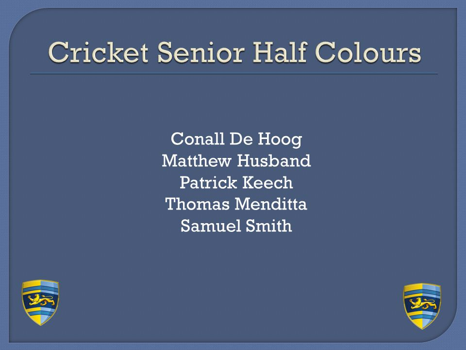 Cricket Senior Half Colours