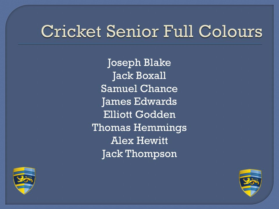 Cricket Senior Full Colours