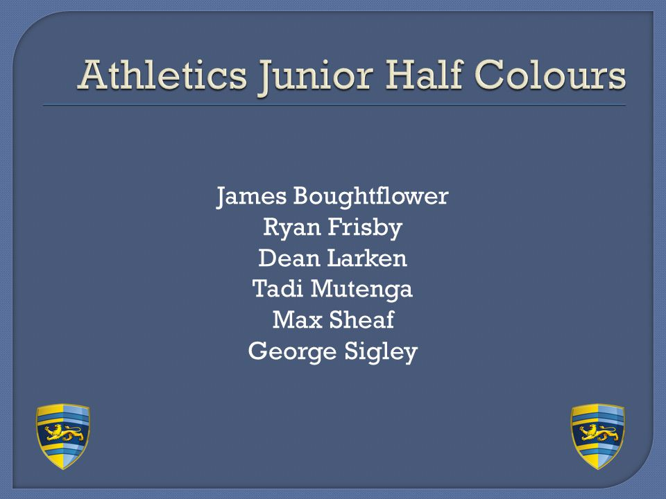 Athletics Junior Half Colours