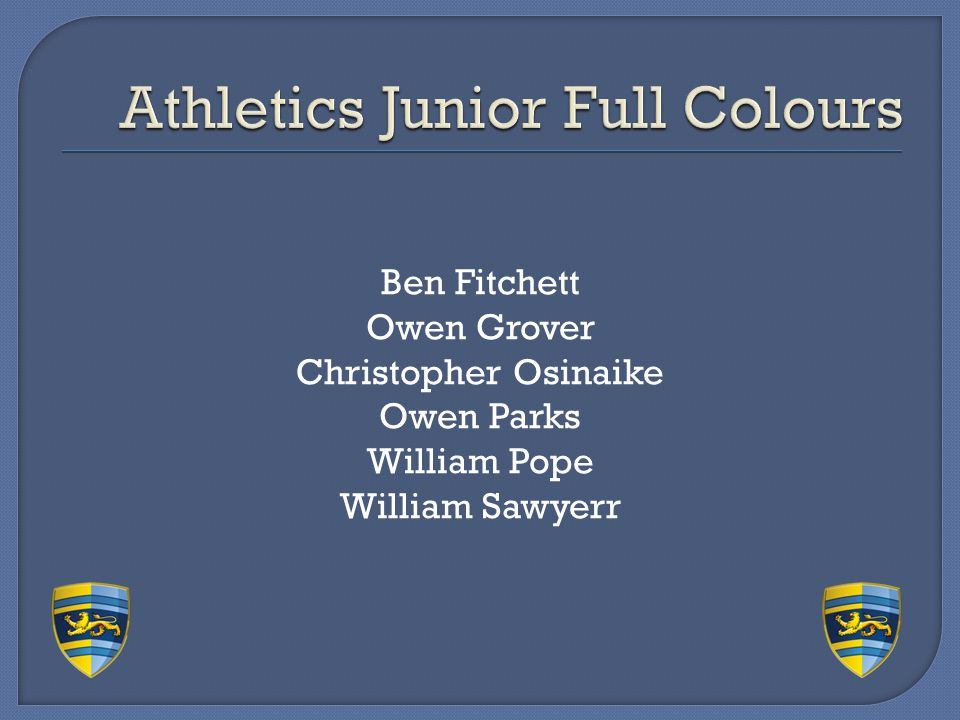 Athletics Junior Full Colours