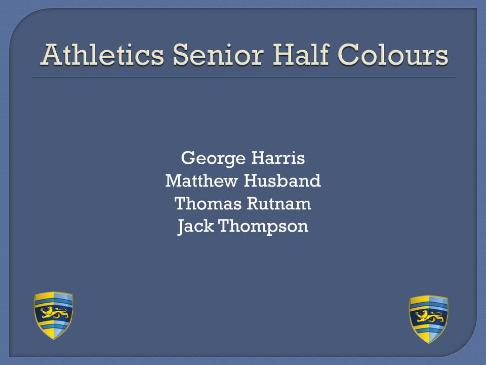 Athletics Senior Half Colours