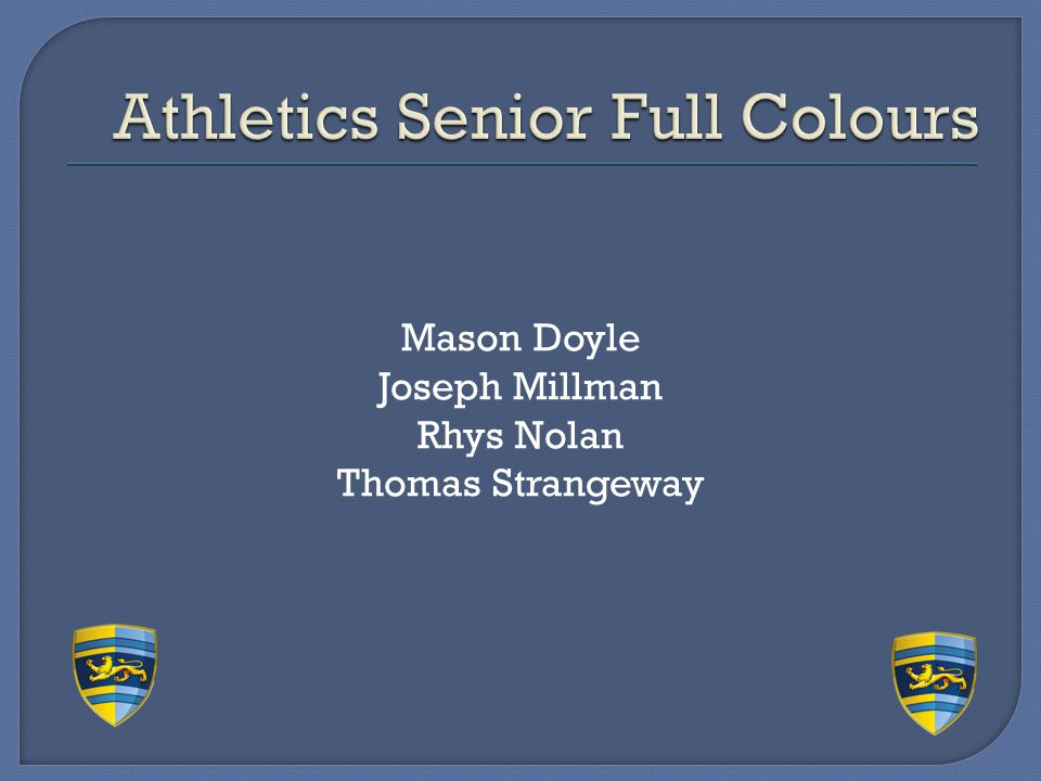 Athletics Senior Full Colours