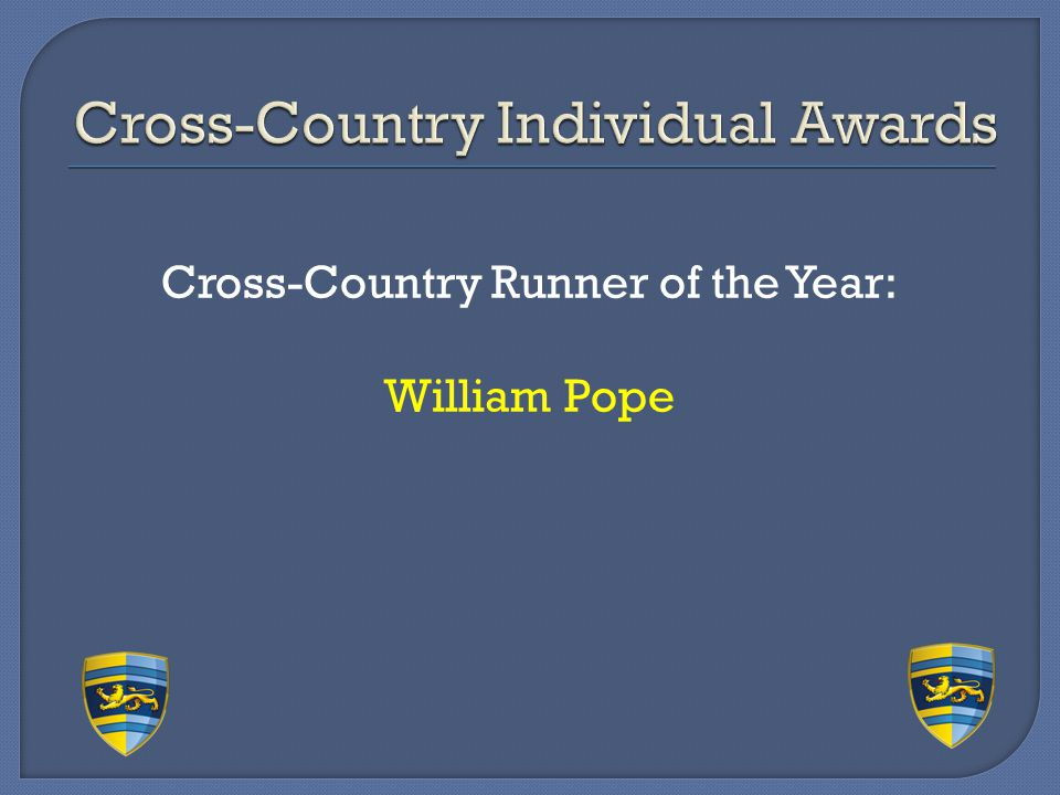 Cross-Country Individual Awards