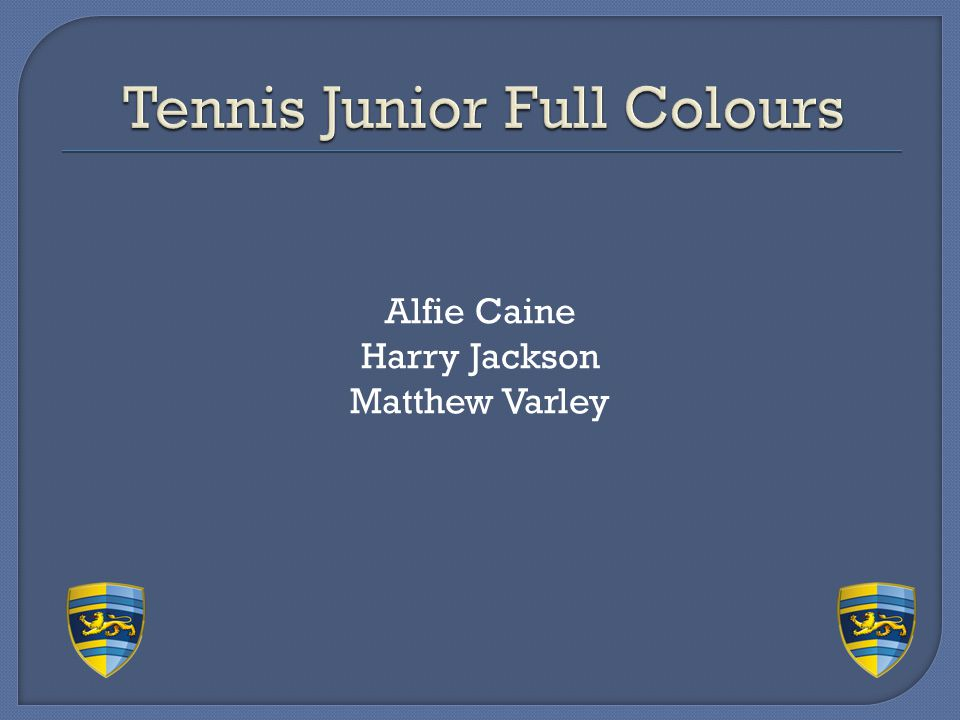 Tennis Junior Full Colours