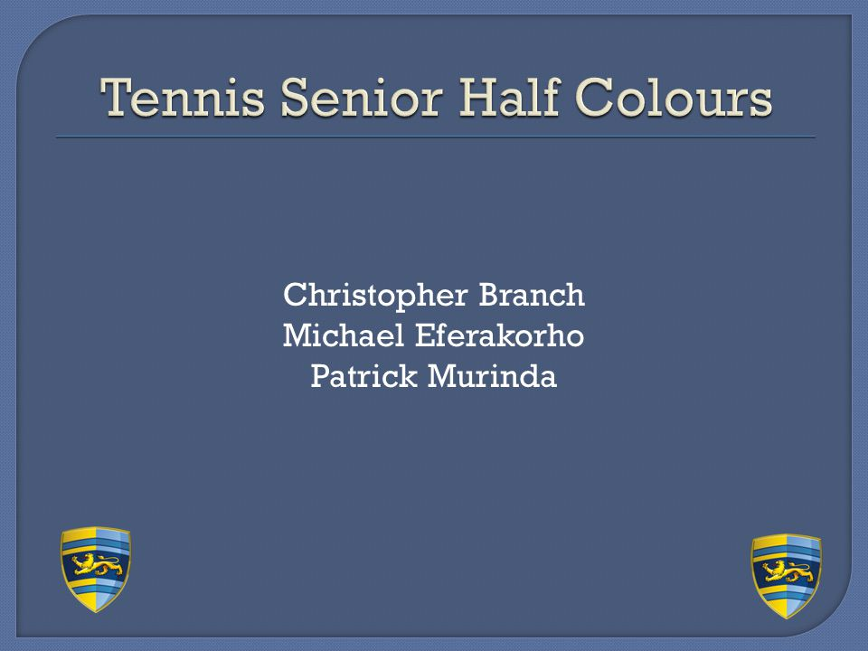 Tennis Senior Half Colours