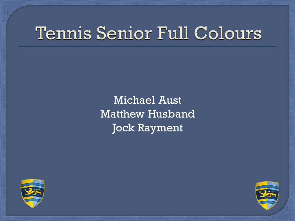 Tennis Senior Full Colours