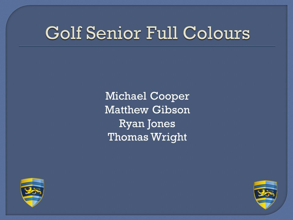 Golf Senior Full Colours